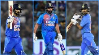 ICC T20I Rankings: Rohit Sharma moves up to eighth spot; Virat Kohli, Shikhar Dhawan close in on top 10