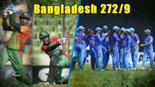 Bangladesh middle-order powers team to 272/9 against India in 1st ODI