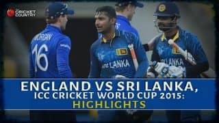 England vs Sri Lanka, ICC Cricket World Cup 2015, Pool A match Highlights