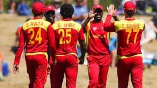 Luke Jongwe's 5 for 6 helps Zimbabwe dismantle Afghanistan by 117 runs in 3rd ODI at Sharjah