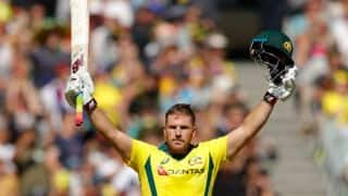 Aaron Finch's century powers Australia to 304-8 against England, 1st ODI
