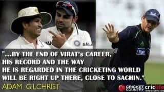 Gilchrist opens up on comparison between Kohli and Tendulkar