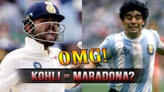 Sourav Ganguly compares Virat Kohli's aggression with Diego Maradona