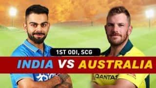 India vs Australia 2018-19 1st ODI Live Cricket Score: Australia take 1-0 series lead with 34-run win