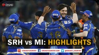Sunrisers Hyderabad vs Mumbai Indians, IPL 2015 Match 56 at Hyderabad Highlights: Mitchell McClenaghan comes good, SRH collapse, and more