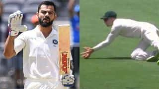 Watch: Virat Kohli's interesting celebration after reaching 25th Test century and controversial dismissal at Perth