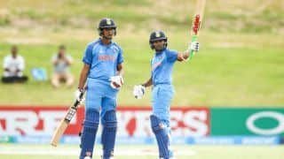 ICC Under 19 World Cup 2018 Final: Play stopped due to rain; India at 23-0