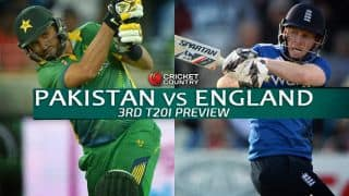ENG 4/0 in o.5 over in Super Over | Live Cricket Score, Pakistan vs England 2015, 3rd T20I at Sharjah: Chris Jordan stars in England super over win