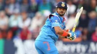 India vs England 2014, 3rd ODI at Trent Bridge: Suresh Raina dismissed for 42