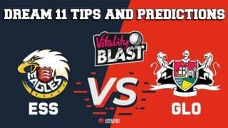 Dream11 Team Essex vs Gloucestershire South Group VITALITY T20 BLAST ENGLISH T20 BLAST – Cricket Prediction Tips For Today's T20 Match ESS vs GLO at Chelmsford