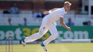 Stuart Broad fined 30 per cent match fee for breaching ICC Code of Conduct