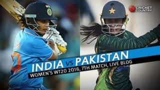 PAKW 77/6 in 16 Overs | Live Cricket Score, India Women vs Pakistan Women, Women's T20 World Cup 2016, IND W vs PAK W, Match 7 Group B at Delhi: PAK win by D/L method