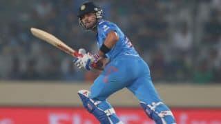 India vs England 2014, Only T20I at Edgbaston: India 89/1 at half-way mark