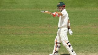 Warner's 27-ball 55 extends Australia's lead to 340 at tea
