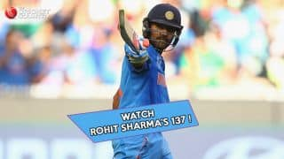 Video: Rohit Sharma's 137 against Bangladesh in quarter-final match
