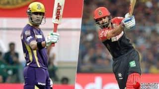 रॉयल चैलेंजर्स बैंगलोर की कसी गेंदबाजी के सामने 131 रन ही बना सकी कोलकाता नाइट राइडर्स