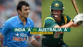 Live Cricket Score India A vs Australia A, Triangular series 4th match at Chennai AUS A 262 for 7 in 48.3 overs chasing 259: Australia A win by three wickets, book spot in final