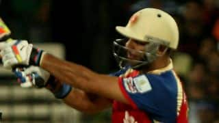 Yuvraj Singh dismissed by Rishi Dhawan in Royal Challengers Bangalore vs Kings XI Punjab in IPL 2014