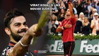 'Virat Kohli is like Novak Djokovic'