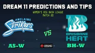 AS-W vs BH-W Dream11 Team Adelaide Strikers Women vs Brisbane Heat Women, Match 20, Women's Big Bash League WBBL 2019– Cricket Prediction Tips For Today's Match AS-W vs BH-W at Mackay November 2