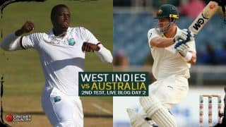 Live Cricket Score, WI vs Aus, 2nd Test, Kingston, Day 2: WI end shoddy day at 143/8