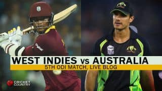 WI 266/6 in 45.4 overs | TARGET 266 | Live Cricket Score, West Indies vs Australia, West Indies Tri-Nation Series 2016, Match 5 at St Kitts: WI win by 26 runs