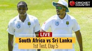 Live Cricket Score, South Africa vs Sri Lanka, 1st Test Day 5: SA 1-0 up; win 1st Test