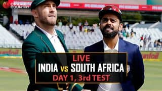 Highlights, India vs South Africa, 3rd Test, Day 1 at Johannesburg: IND 187, SA 6 for 1