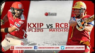 Live Cricket Score KXIP vs RCB IPL 2015, Match 50 at Mohali: KXIP seal victory in 10-over game