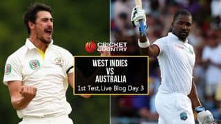 Live Cricket Score, West Indies vs Australia 2015, 1st Test at Dominica, Day 3, WI 47/1 in 5 overs: Australia win by 9 wickets