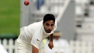 Bhuvneshwar Kumar takes 50th Test wicket; Sri Lanka 7-2 against India