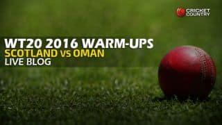 Live Cricket Score Scotland vs Oman, ICC World T20 2016, SCO vs OMAN Warm-up T20 Match at Mohali