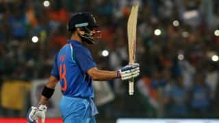 Virat Kohli scored century in all three matches when India chesed down 350 plus target