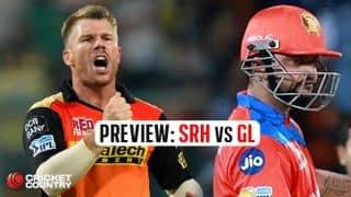 Sunrisers Hyderabad vs Gujarat Lions, IPL 2017, match 7 preview: David Warner's men seek consecutive wins