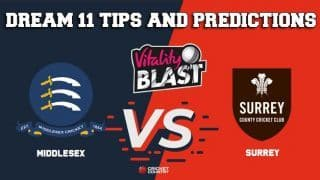 Dream11 Team Middlesex vs Surrey South Group VITALITY T20 BLAST – Cricket Prediction Tips For Today's T20 Match MID vs SUR at The Oval