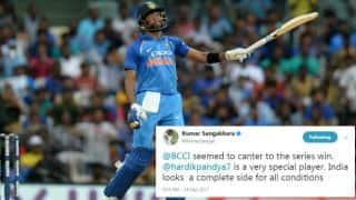 Sangakkara calls Pandya 'very special player'