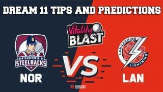 Dream11 Team Northamptonshire vs Lancashire North Group VITALITY T20 BLAST ENGLISH T20 BLAST – Cricket Prediction Tips For Today's T20 Match NOR vs LAN at Northampton
