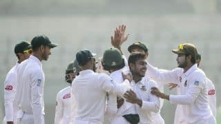 3rd Test: West Indies 46/4 after Mehidy Hasan's seven enforce follow-on
