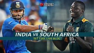 SA 200/3 (Target 200)   Live Cricket Score India vs South Africa 2015, 1st T20I at Dharamsala: SA win by 7 wickets