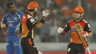 David Warner on rampage for Sunrisers Hyderabad against Kings XI Punjab in IPL 2014