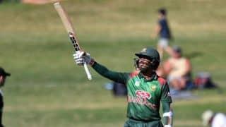 1st ODI: Mohammad Mithun, Mohammad Saifuddin get Bangladesh to 232