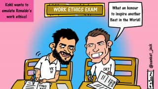 CARTOON: Virat wants to emulate Ronaldo