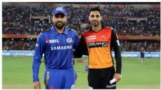IPL 2019: Hyderabad won the toss elected to bowl first