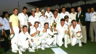 World Cup 1987 final: Australia lift maiden Trophy after Mike Gatting's reverse-sweep
