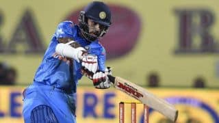 India vs Sri Lanka, 2nd ODI at Ahmedabad: Shikhar Dhawan dismissed for 79