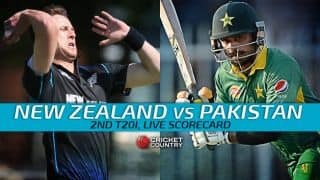 Live Cricket Scorecard: New Zealand vs Pakistan 2015-16, 2nd T20I at Hamilton