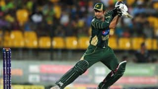 Mumbai Indians vs Lahore Lions CLT20 2014 2nd Qualifier match: Ahmed Shehzad dismissed for 34