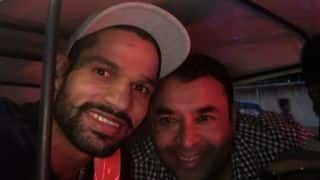 Photo: Dhawan's joy ride in Bangalore