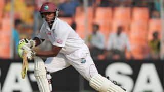 Shivnarine Chanderpaul dismissed for 1 in West Indies vs England 2nd Test at Grenada
