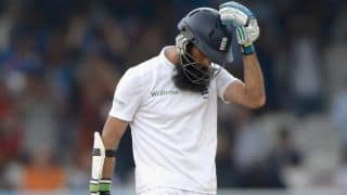 India vs England, 4th Test at Manchester: Moeen Ali bowled by Varun Aaron for 13; score 173/6